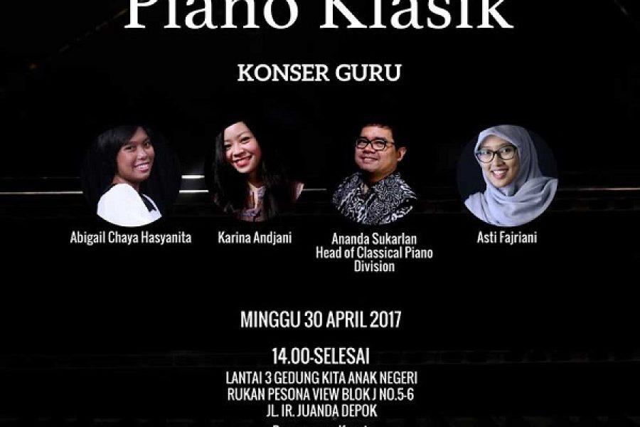 Konser Piano Klasik 2017 Tinggal Menghitung Hari!