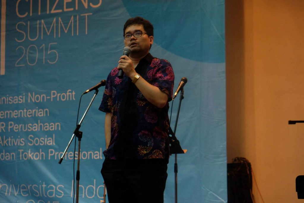 ANANDA SUKARLAN – INDONESIAN CITIZENS SUMMIT 2015 UI DEPOK